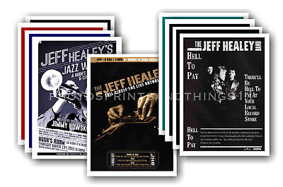 JEFF HEALEY - 10 promotional posters  collectable postcard set # 1
