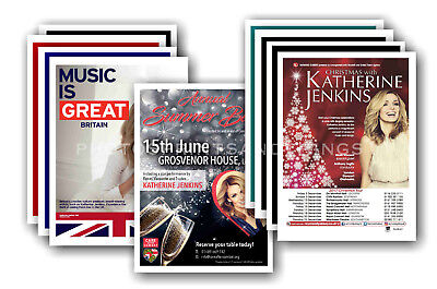 KATHERINE JENKINS - 10 promotional posters  collectable postcard set # 1