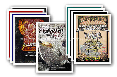 KILLSWITCH ENGAGE - 10 promotional posters  collectable postcard set # 1