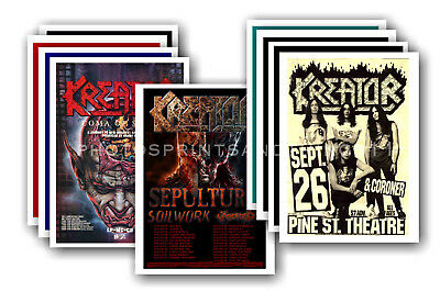KREATOR - 10 promotional posters  collectable postcard set # 1
