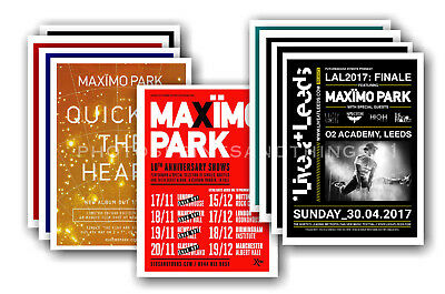 MAXIMO PARK - 10 promotional posters  collectable postcard set # 1