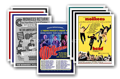 MONKEES - 10 promotional posters  collectable postcard set # 1