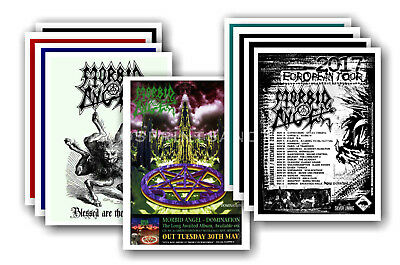 MORBID ANGEL - 10 promotional posters  collectable postcard set # 1
