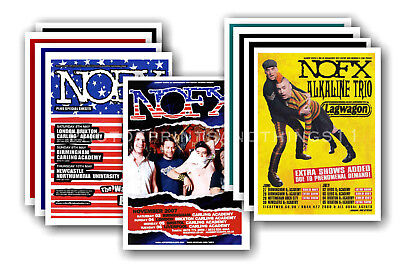 NOFX - 10 promotional posters  collectable postcard set # 1