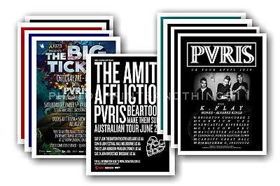PVRIS - 10 promotional posters  collectable postcard set # 1