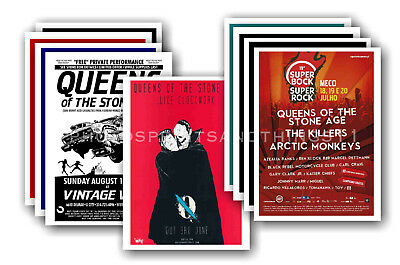 QUEENS OF THE STONE AGE - 10 promotional posters  collectable postcard set # 1