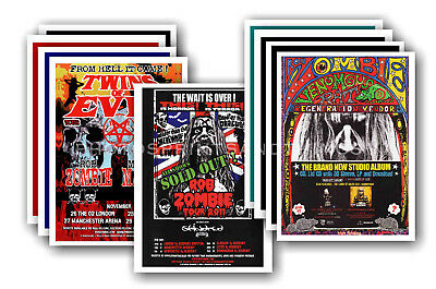 ROB ZOMBIE - 10 promotional posters  collectable postcard set # 1