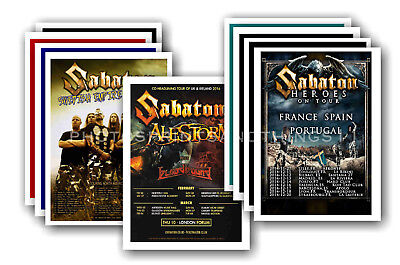 SABATON - 10 promotional posters  collectable postcard set # 1
