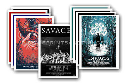 SAVAGES - 10 promotional posters  collectable postcard set # 1