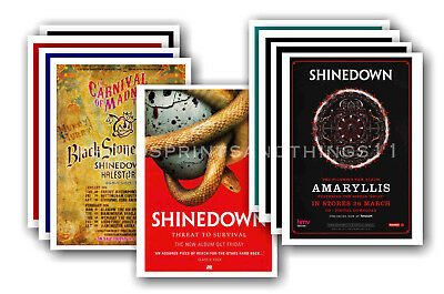 SHINEDOWN - 10 promotional posters  collectable postcard set # 1