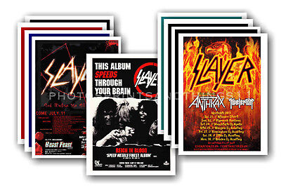 SLAYER - 10 promotional posters  collectable postcard set # 2
