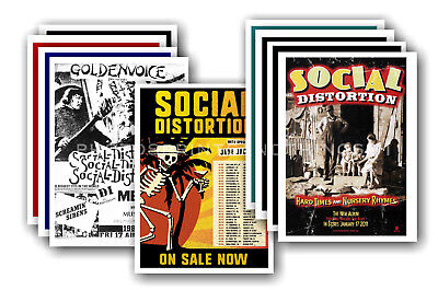SOCIAL DISTORTION - 10 promotional posters  collectable postcard set # 1