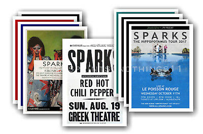 SPARKS - 10 promotional posters  collectable postcard set # 1