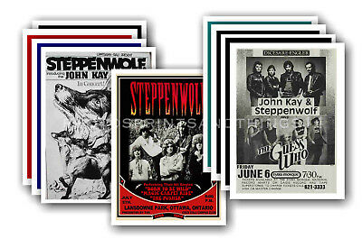 STEPPENWOLF - 10 promotional posters  collectable postcard set # 1