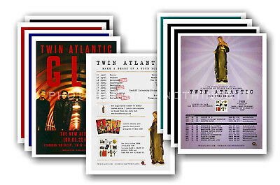 TWIN ATLANTIC - 10 promotional posters  collectable postcard set # 1
