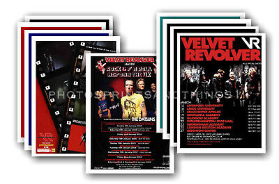 VELVET REVOLVER - 10 promotional posters  collectable postcard set # 1