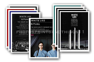 WHITE LIES - 10 promotional posters  collectable postcard set # 1