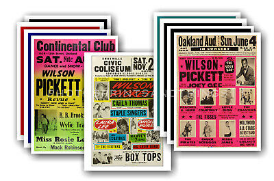 WILSON PICKETT - 10 promotional posters  collectable postcard set # 1
