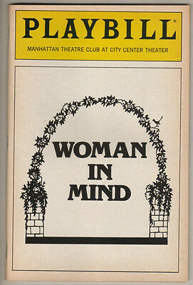 "Stockard Channing Playbill ""Woman In Mind"" 1988 Alan Ayckbourn"