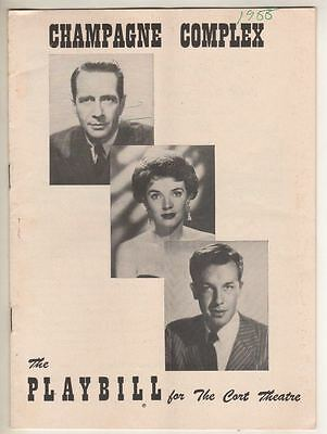 """""""Champagne Complex""""  FLOP  Playbill  1955  Donald Cook, Polly Bergen, John Dall"""