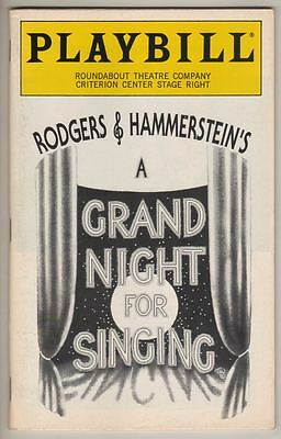 "Playbill ""A Grand Night For Singing"" 1993 Victoria Clark"