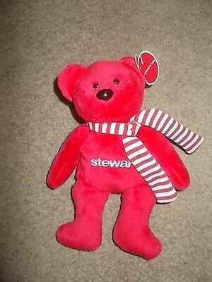 Red Stewart Plush Bear - Stewart Title Co 2007