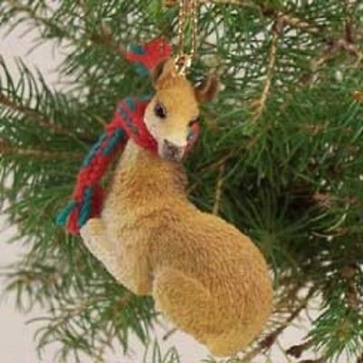 LLAMA Ornament HAND PAINTED resin Figurine Christmas Holiday ANIMAL NEW