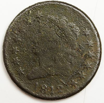 1812 Large Cent.  Fine Detail.  Circulated.  101899