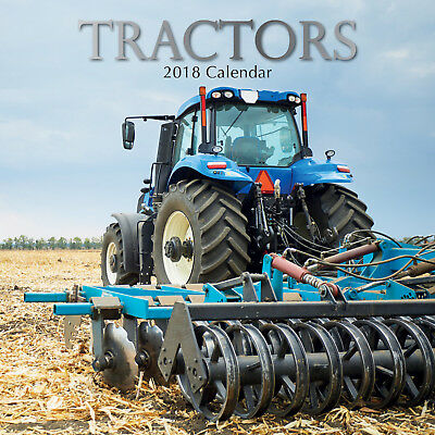 Tractors ~ 16 Month  2018 Square Wall Calendar