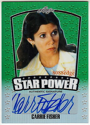 "2015 Pop Century Star Power Auto: Carrie Fisher #8/10 Autograph ""force Awakens"""