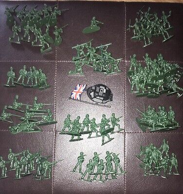 100 Plastic Army Men. British Army. Toy Soldiers. Party Bag Fillers / Favours