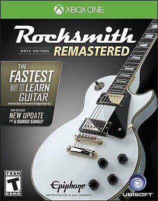 Xbox One Rocksmith Authentic Guitar Games 2014 New Includes Real Tone Cable