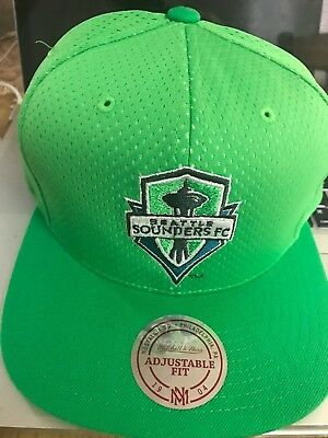 best website f0295 8396b Mitchell   Ness MLS Seattle Sounders FC Soccer Snapback Hat Cap ADJUSTABLE  ...