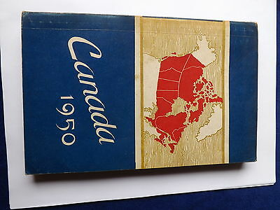 Canada 1950 Book Vintage Handbook Economic Conditions Government Fold Out Map