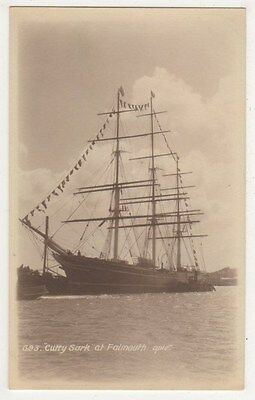 Sailing Ship Cutty Sark at Falmouth, Opie of Redruth Real Photo Postcard B642