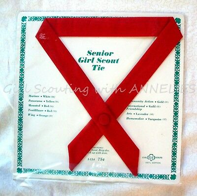 1960 Official Senior Uniform TIE, NEW-Original Pkg. RED for Trail Blazer/Mounted