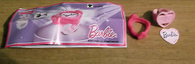 Kinder Surprise Barbie Pink Ring Limited Edition Canada Collectible  New FF534D
