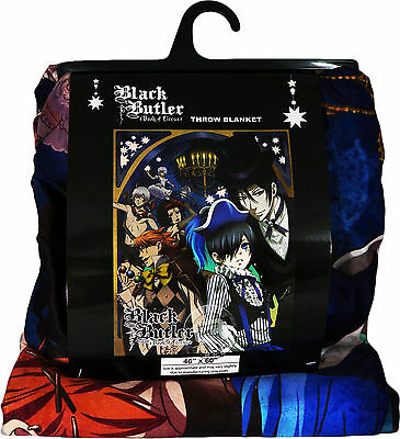 Black Butler Book of Circus Ciel Sebastian Sublimation Throw Blanket New