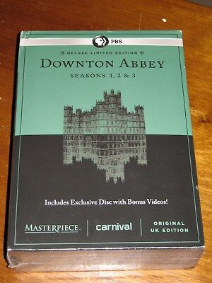 Downtown Abbey Seasons 1 2 3 Deluxe Limited Edition Original Uk Edition Dvd New