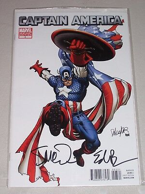 Captain America #3! (2011) 1:26 Variant! Signed by Brubaker & Epting! NM! COA!