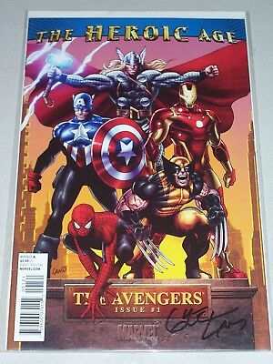 Avengers #1! (2010) 1:15 Heroic Age Variant! Signed by VCA Greg Land! NM! COA!