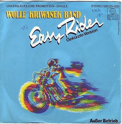 """""""7"""" - WOLLE KRIWANEK BAND - Easy Rider"""