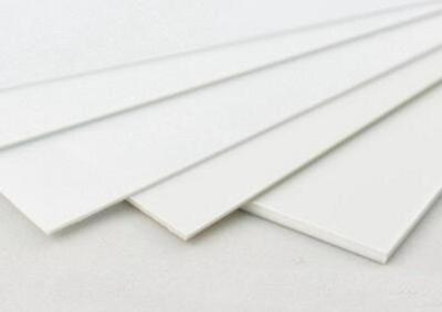 """US Stock 20mm x 3.937/"""" x 3.937/"""" UHMW PE Plastic Sheet Plate Natural White"""