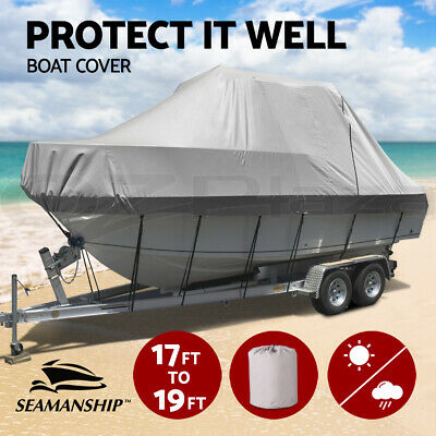 Seamanship 17-19ft Boat Cover Trailerable Jumbo 600D Waterproof Marine Grade