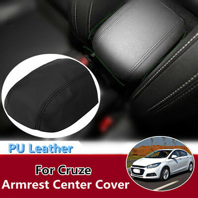 PU Leather Console Lid Armrest Center Cover Black FOR 2011-2015 Chevy Cruze
