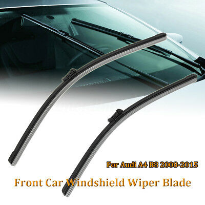 "24"" & 20"" Front Car Windshield Wiper Blade Bracketless For Audi A4 B8 2008-2015"