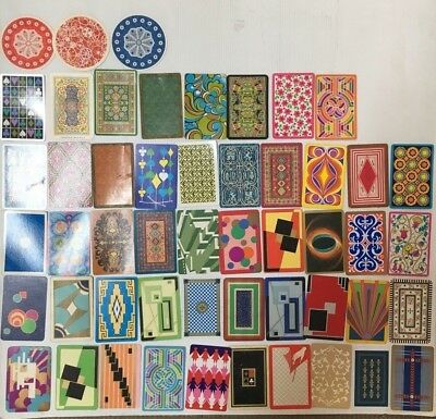 SWAP CARD LOT OF 51 ALL DIFFERENT PATTERNS FROM 1960's/ 70's