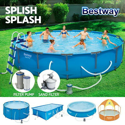 Bestway Above Ground Swimming Pool + Filter Sand + Pump + Ladder Full Set