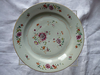 Assiette  Compagnie Des Indes Chine Famille Rose 18 Eme Siecle  N° 1