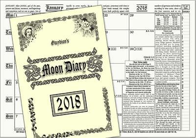 Gwydion's Moon Diary 2018 The Witches Favourite! A5 Pagan Wiccan Druid Witch